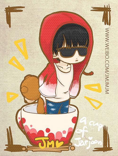 Yunjae Fanart Cute Fanart Yunjae in a Tea Cup